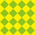 黄色と緑色のハーリキンチェック柄パターン