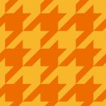 オレンジ色のハウンドトゥース(千鳥格子)柄パターン