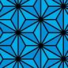 青と黒の麻の葉柄パターン