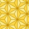 濃淡のある黄色の麻の葉柄パターン