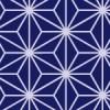 紺色の麻の葉柄パターン