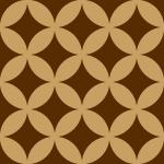 茶色基調の七宝柄パターン
