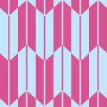 ピンクと薄い青の矢絣柄パターン