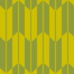 渋い黄緑色の矢絣柄パターン