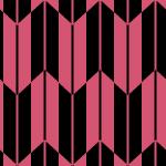 黒とピンクの矢絣柄パターン