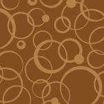 茶色の様々なサークルが重なりあうパターン