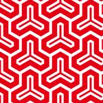 赤と白の毘沙門亀甲柄パターン
