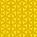 黄色の組亀甲柄パターン