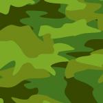 緑色ベースの迷彩・カモフラージュ柄パターン