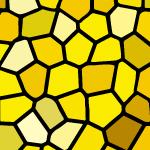 黄色のステンドグラス