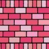 2種類のピンクカラーレンガブロックイラストパターン