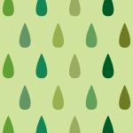緑色のレインドロップ柄パターン
