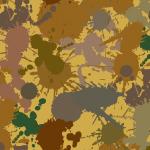 様々な茶色系のインクが飛び散るパターン