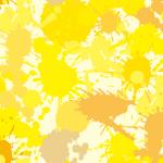 様々な黄色系のインクが飛び散るパターン