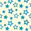 青色の様々な大きさの星が散らばるパターン