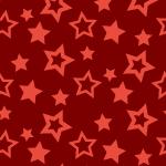 赤色の様々な大きさの星が散らばるパターン