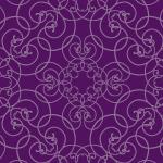 蔦が絡みあったような紫色のアラベスク柄パターン