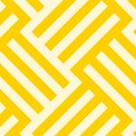 黄色のバスケット柄パターン