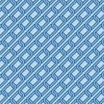 斜めに連なる青い鎖のイラストパターン