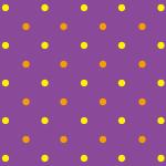 黄色とオレンジ色のドットが並ぶ紫色のパターン