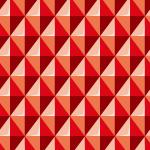 立体的に見える赤色の菱形パターン