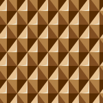 立体的に見える茶色の菱形パターン