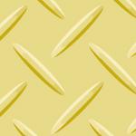 黄色の縞鋼板・チェッカープレートのパターン