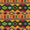 エスニックな色合いの図形が並ぶパターン