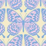 パステルカラーの蝶が並ぶパターン