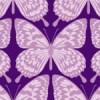紫色の蝶のイラストが並ぶパターン