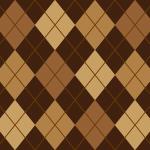 茶色のアーガイルチェック柄パターン