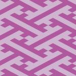 紫色の紗綾形パターン