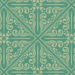 緑色のバリテイストパターン