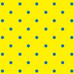 黄色と青の水玉・ドット柄パターン