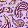 紫色基調のペイズリー柄パターン