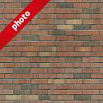 茶色のブロックレンガ写真加工パターン