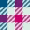 青とピンク基調のガンクラブチェック柄パターン