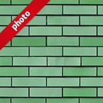 緑色のレンガ写真加工パターン