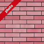 ピンク色のレンガ写真加工パターン