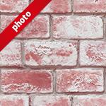 ざらついた赤色のレンガ写真加工パターン