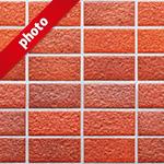 綺麗に整列した赤いレンガの写真加工パターン
