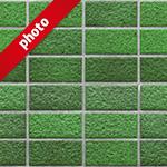綺麗に整列した緑色のレンガ写真加工パターン
