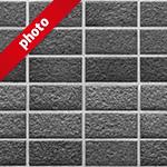 綺麗に整列したモノクロレンガの写真加工パターン