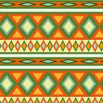 暖色系のエスニック調パターン