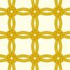 黄色の飾り結びが交差するパターン
