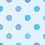 青い水玉ドット柄パターン