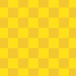 黄色基調の市松模様パターン