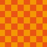 オレンジ色の市松模様パターン