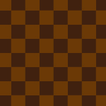 茶色の市松模様パターン