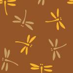 茶色のとんぼ・勝ち虫の和柄パターン